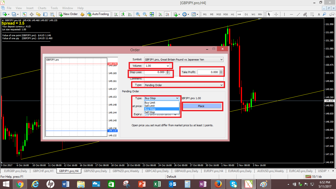 How to place order in forex trading