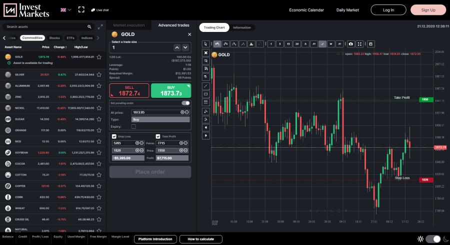 InvestMarkets Trading App